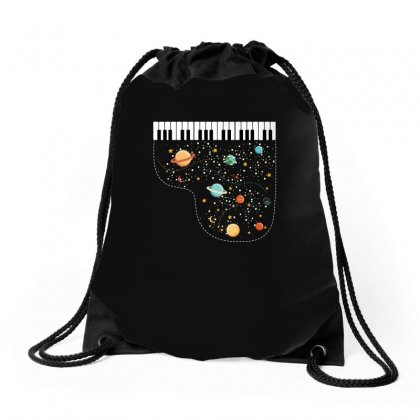 Music In Space For Dark Drawstring Bags Designed By Hasret