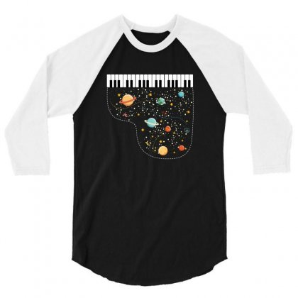 Music In Space For Dark 3/4 Sleeve Shirt Designed By Hasret