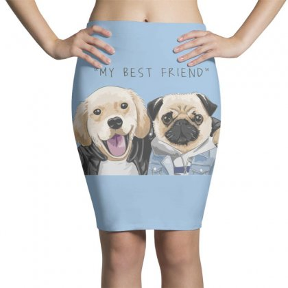 Dog Best Friend Pencil Skirts Designed By Disgus_thing
