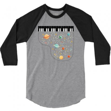 Music In Space For Light 3/4 Sleeve Shirt Designed By Hasret