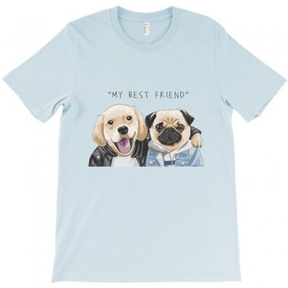 Dog Best Friend T-shirt Designed By Disgus_thing