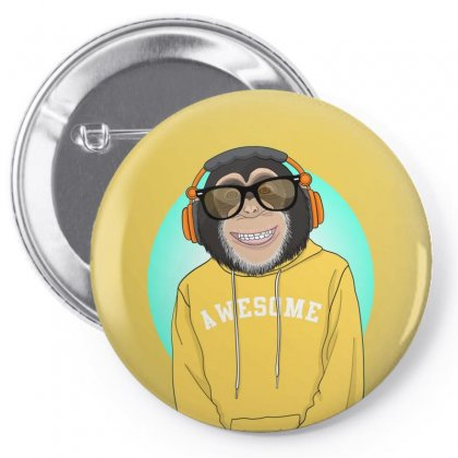 Monkey Awesome Pin-back Button Designed By Disgus_thing