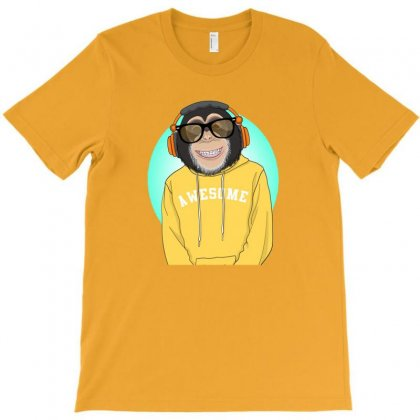 Monkey Awesome T-shirt Designed By Disgus_thing