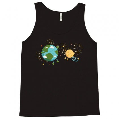 Happy Planets In The Space Tank Top Designed By Hasret