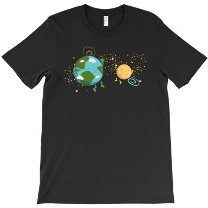 Happy Planets In The Space T-shirt Designed By Hasret