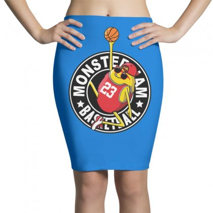 Basketball Monster Pencil Skirts Designed By Disgus_thing