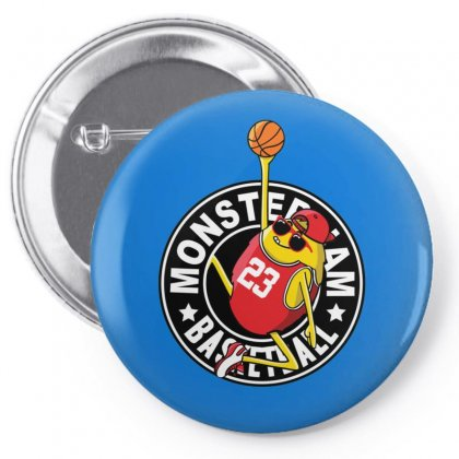 Basketball Monster Pin-back Button Designed By Disgus_thing