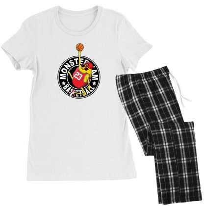 Basketball Monster Women's Pajamas Set Designed By Disgus_thing