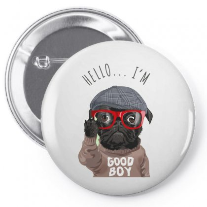 Dog Good Boy Pin-back Button Designed By Disgus_thing