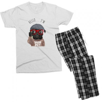 Dog Good Boy Men's T-shirt Pajama Set Designed By Disgus_thing