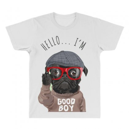 Dog Good Boy All Over Men's T-shirt Designed By Disgus_thing