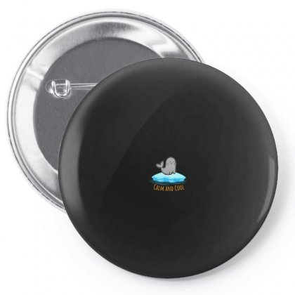 Calm And Cool For Dark Pin-back Button Designed By Hasret
