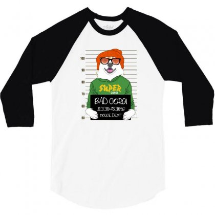 Bad Corg 3/4 Sleeve Shirt Designed By Disgus_thing