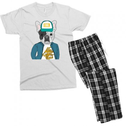 Cool Dog Men's T-shirt Pajama Set Designed By Disgus_thing