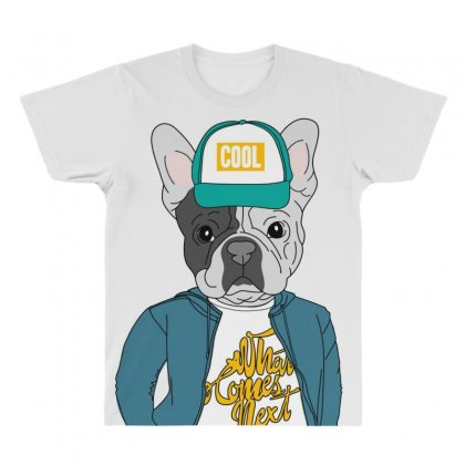 Cool Dog All Over Men's T-shirt Designed By Disgus_thing