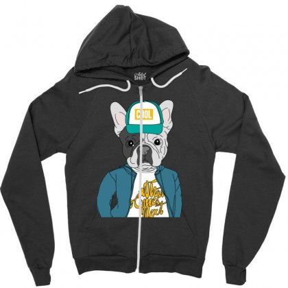 Cool Dog Zipper Hoodie Designed By Disgus_thing