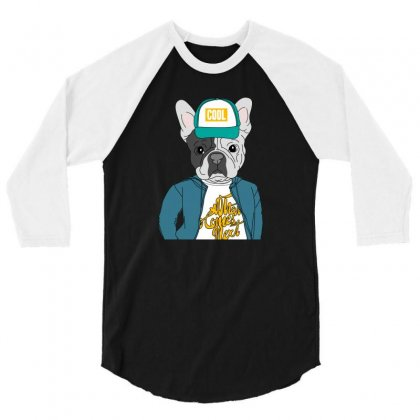 Cool Dog 3/4 Sleeve Shirt Designed By Disgus_thing