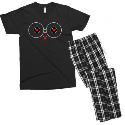 Cute For Dark Men's T-shirt Pajama Set Designed By Hasret