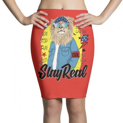 Lion Stay Real Pencil Skirts Designed By Disgus_thing