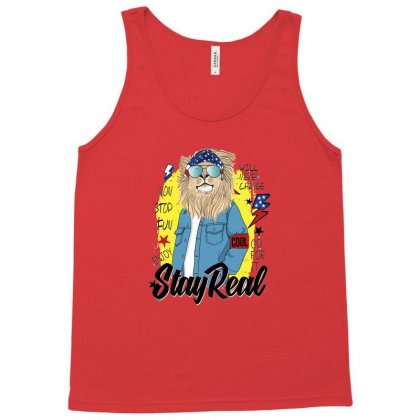 Lion Stay Real Tank Top Designed By Disgus_thing