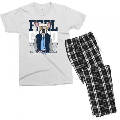 Dog Feel Good Men's T-shirt Pajama Set Designed By Disgus_thing