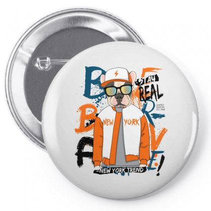 Dog Newyork Pin-back Button Designed By Disgus_thing
