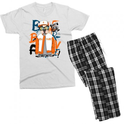 Dog Newyork Men's T-shirt Pajama Set Designed By Disgus_thing