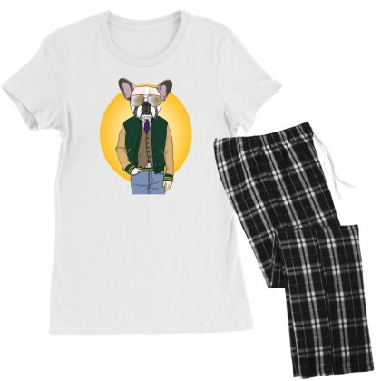 Funny Dog Women's Pajamas Set Designed By Disgus_thing