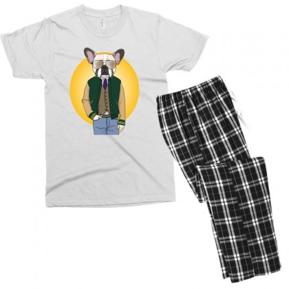 Funny Dog Men's T-shirt Pajama Set Designed By Disgus_thing