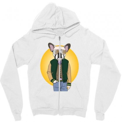 Funny Dog Zipper Hoodie Designed By Disgus_thing
