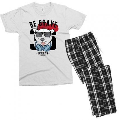 Cool Bear Men's T-shirt Pajama Set Designed By Disgus_thing