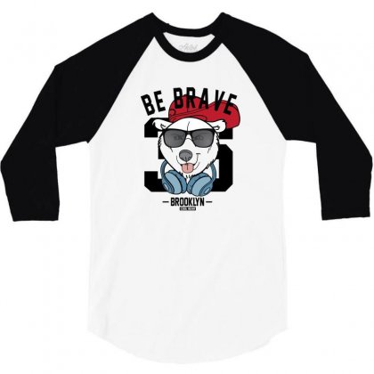 Cool Bear 3/4 Sleeve Shirt Designed By Disgus_thing