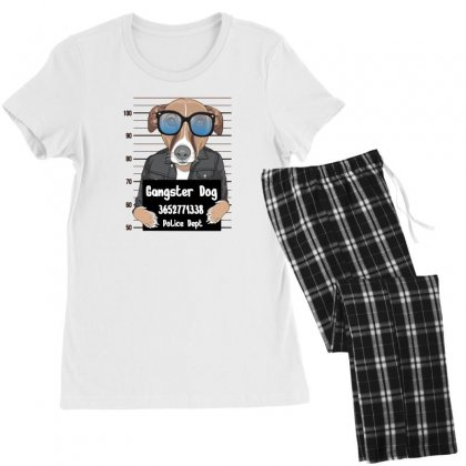 Gangster Dog Women's Pajamas Set Designed By Disgus_thing