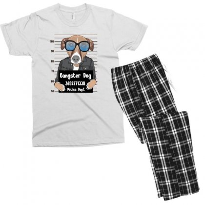 Gangster Dog Men's T-shirt Pajama Set Designed By Disgus_thing