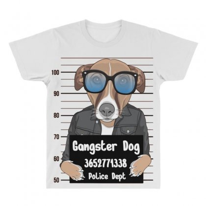 Gangster Dog All Over Men's T-shirt Designed By Disgus_thing