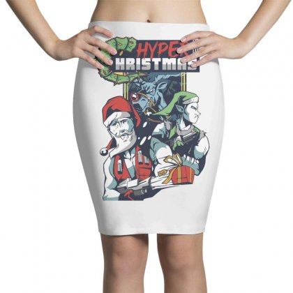 Hyper Hristmas Pencil Skirts Designed By Disgus_thing