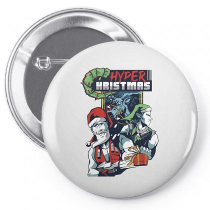 Hyper Hristmas Pin-back Button Designed By Disgus_thing