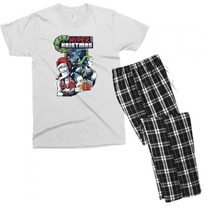 Hyper Hristmas Men's T-shirt Pajama Set Designed By Disgus_thing