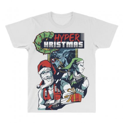 Hyper Hristmas All Over Men's T-shirt Designed By Disgus_thing