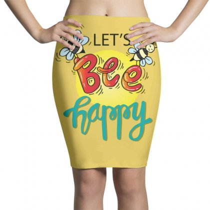 Lets Bee Happy Pencil Skirts Designed By Disgus_thing