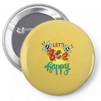 Lets Bee Happy Pin-back Button Designed By Disgus_thing
