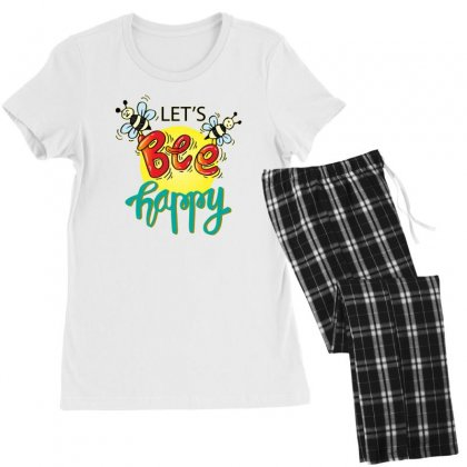 Lets Bee Happy Women's Pajamas Set Designed By Disgus_thing
