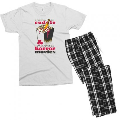 Horror Movies Men's T-shirt Pajama Set Designed By Disgus_thing