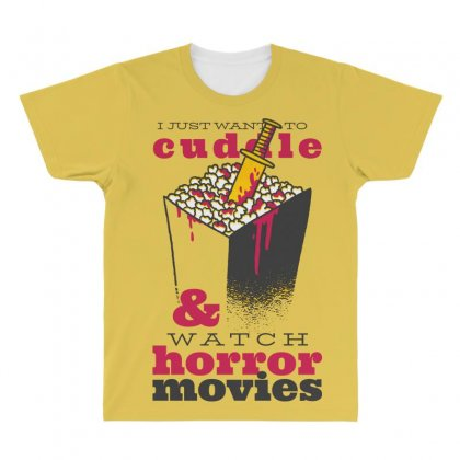 Horror Movies All Over Men's T-shirt Designed By Disgus_thing