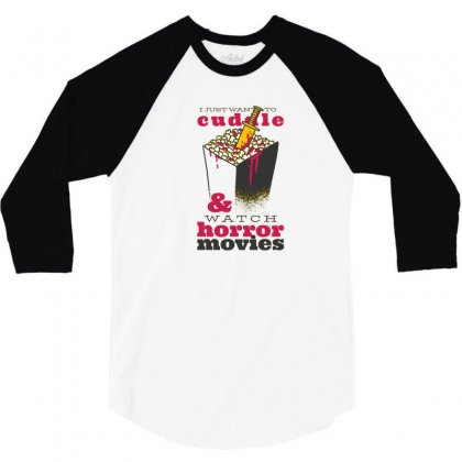 Horror Movies 3/4 Sleeve Shirt Designed By Disgus_thing