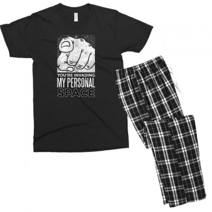 Personal Space Men's T-shirt Pajama Set Designed By Disgus_thing