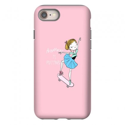 Ballerina Skater Iphone 8 Case Designed By Disgus_thing
