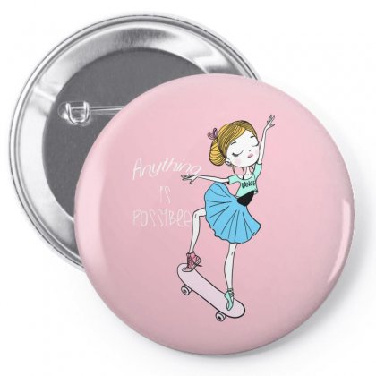 Ballerina Skater Pin-back Button Designed By Disgus_thing