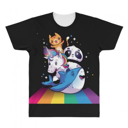Unicorn All Over Men's T-shirt Designed By Disgus_thing