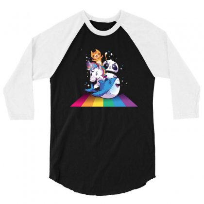 Unicorn 3/4 Sleeve Shirt Designed By Disgus_thing